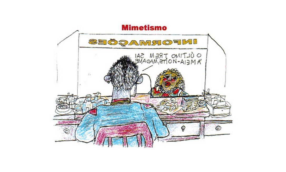 Charge 'Mimetismo' Reprodução / Site oficial