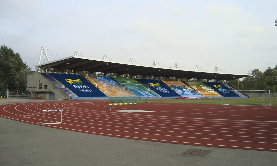 A pista de atletismo, homologada pela IAAF, é uma das atrações do Crystal Palace, a casa do Brasil em Londres Foto: COB / Divulgação