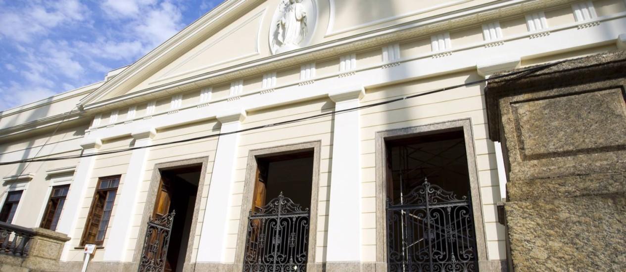 Fachada da Casa Daros, que será aberta em outubro, no Rio Foto: Guito Moreto / Agência O Globo