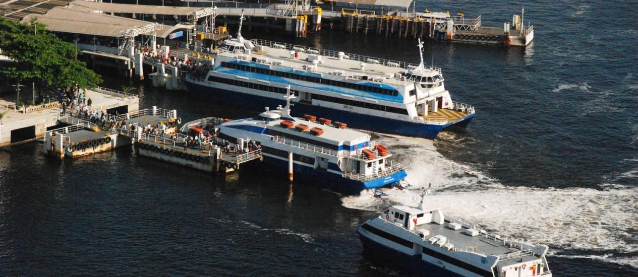 Grupo que administra a Ponte Rio-Niterói assume as barcas Foto: Genilson Araújo