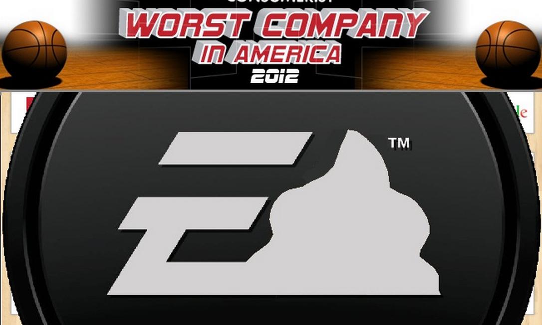 """A """"vencedora"""" EA foi saudada efusivamente em matéria no site Consumerist Foto: Reprodução da internet"""