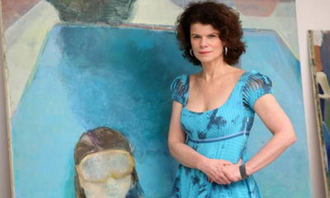Cristina Canale lança livro e abre mostra com pinturas em que fragmentos indicam cenas inteiras Foto: Felipe Hanower / Agência O GLOBO