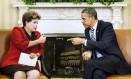Dilma e Obama se encontraram na Casa Branca na segunda-feira Foto: BRENDAN SMIALOWSKI / AFP