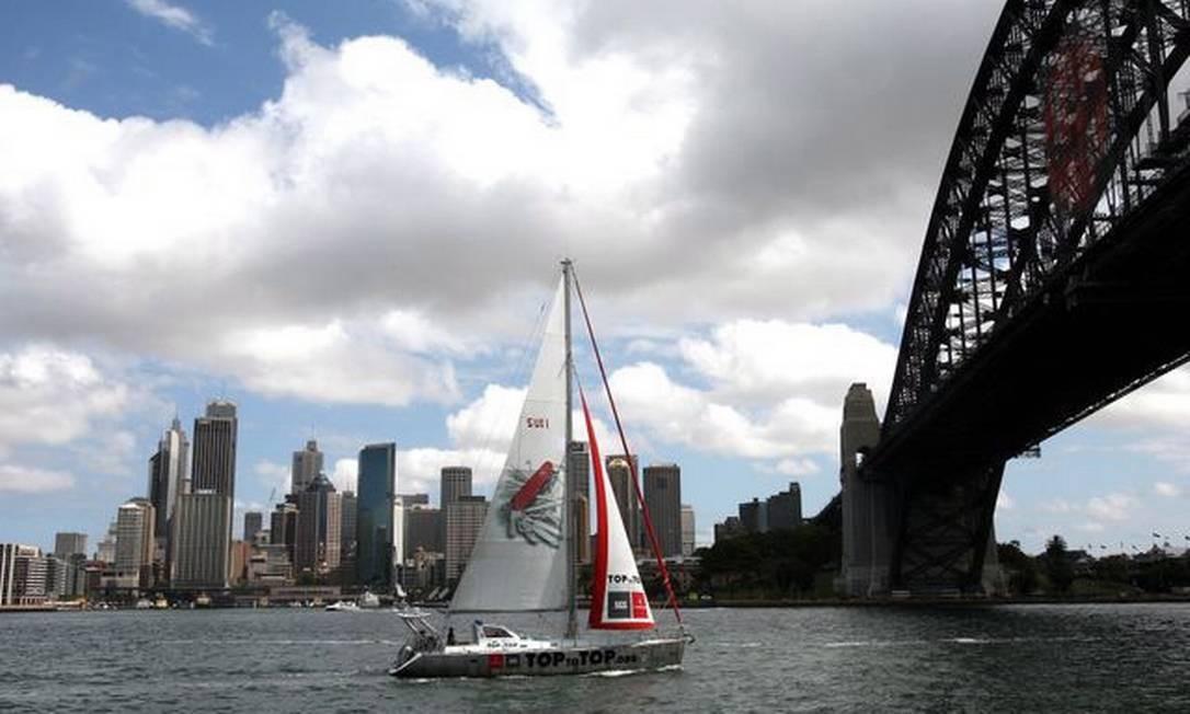 O barco Pachamama (Mãe Terra), em Sidney, na Austrália Foto: Divulgação