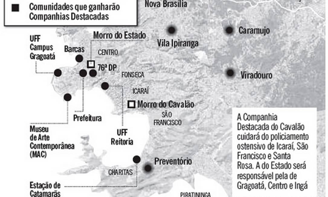 Mapa da violência Foto: Editoria de arte