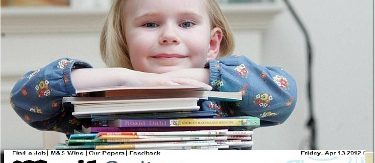 Aos dois anos, Heidi Hankins lia livros indicados para crianças de sete anos de idade Foto: Reprodução