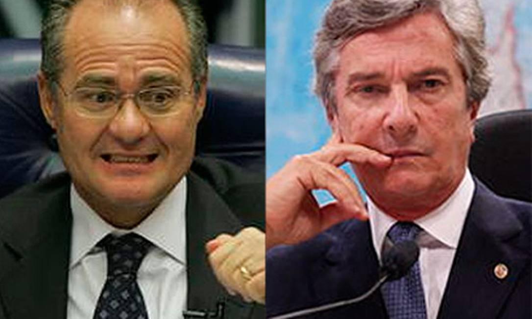 O senador Fernando Collor estará acompanhado de caciques como Renan Calheiros Foto: O Globo / Montagem