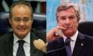 Os senadores Renan Calheiros (à esquerda) e Fernando Collor Foto: Montagem / O Globo