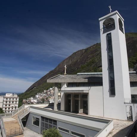 A igreja católica do Morro dos Cabritos, em Copacabana, incluída no roteiro Foto: Rafael Andrade / O Globo