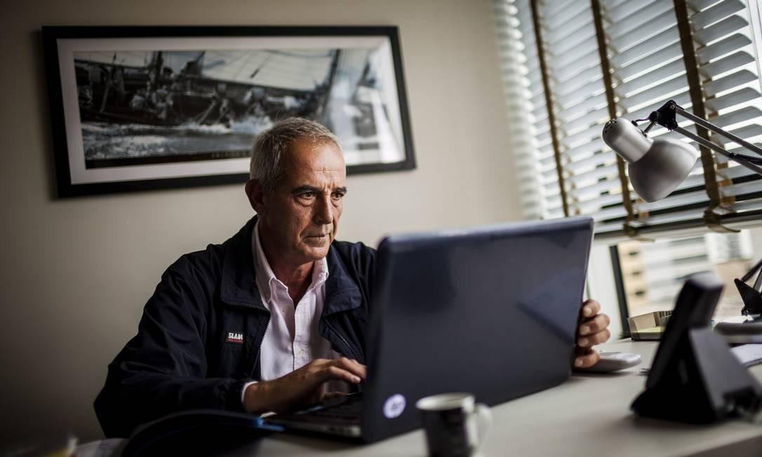 No escritório onde Ronald Soares trabalha hoje Foto: Gustavo Pellizzon / O Globo