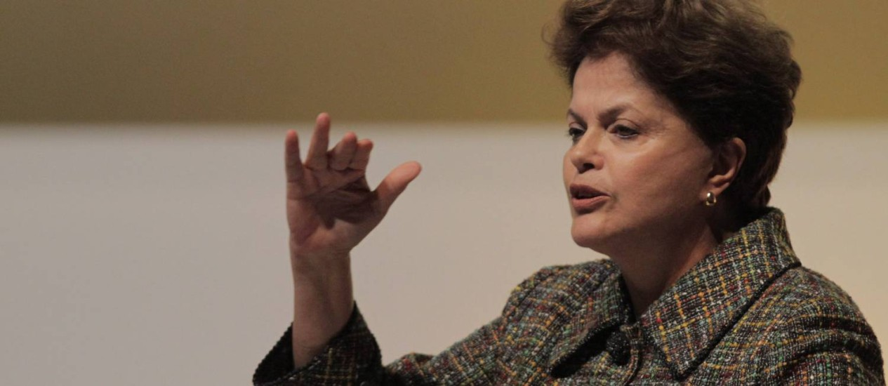 A presidente da República Dilma Rousseff Foto: O Globo / Eliária Andrade