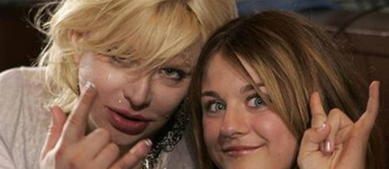 Courtney Love com a filha, Frances Bean Cobain Foto: AP Photo