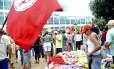 Manifestantes desocupam prédio do Ministério do Desenvolvimento Agrário, em Brasília