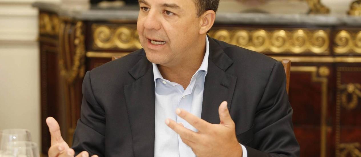 O governador do Rio de Janeiro, Sérgio Cabral Foto: O Globo / Domingos Peixoto