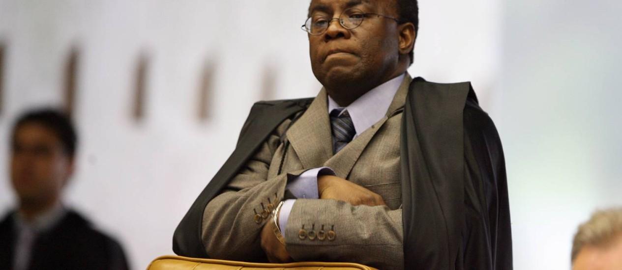 O ministro do STF Joaquim Barbosa Foto: O Globo / Aílton de Freitas