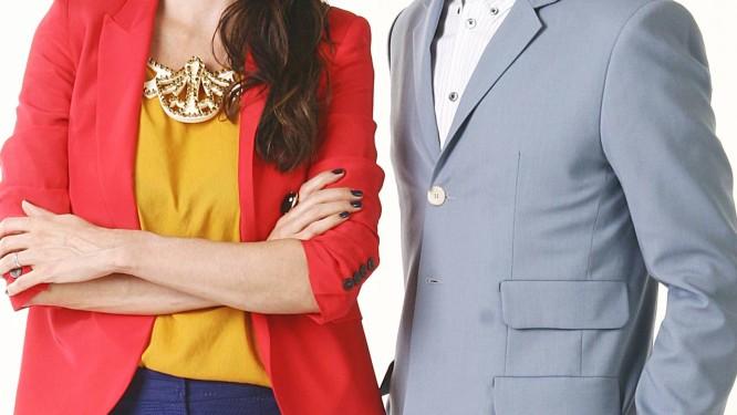 """Os apresentadores de """"Esquadrão da moda"""", Isabella Fiorentino e Arlindo Grund Foto: Foto: Roberto Nemanis"""