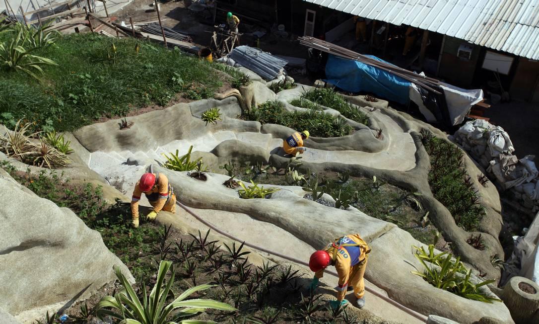 festa jardim do morro:jardim suspenso do Valongo, aos pés do Morro da Conceição, está