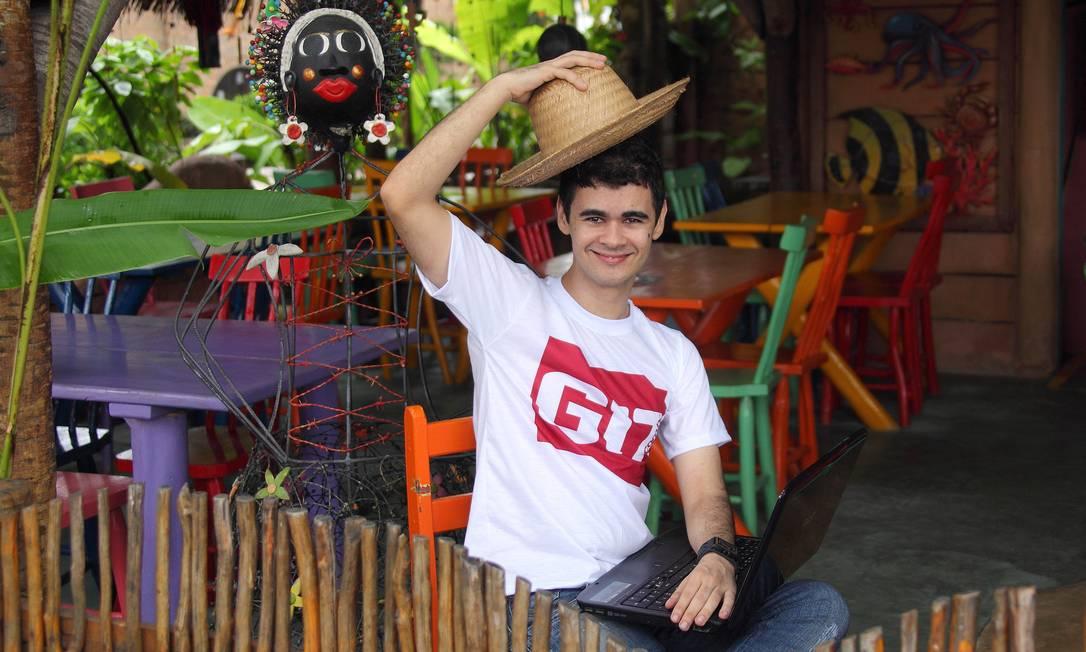 Rafael Gustavo, de Nova Cruz, no agreste do Rio Grande do Norte, inventou notícia falsa sobre o criador do Facebook, Mark Zuckerberg Foto: O Globo / Hans von Manteuffel