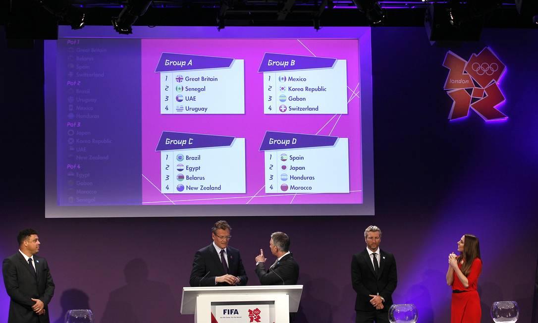 Os quatro grupos do torneio masculino de futebol nas Olimpíadas Foto: Kirsty Wigglesworth / AP