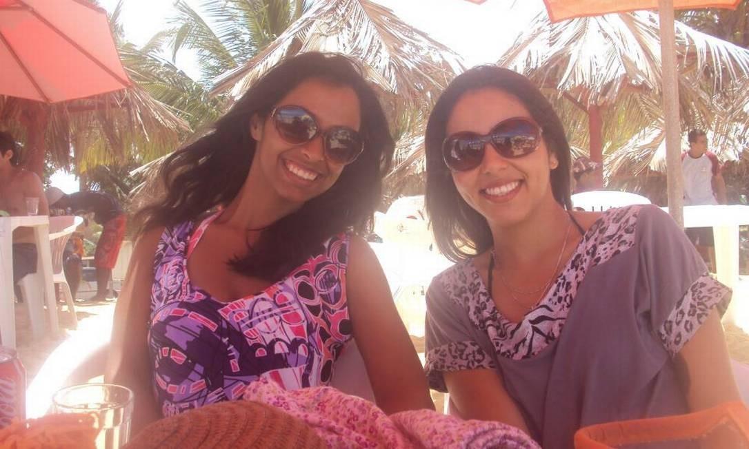 """Amiga de Izadora Ribeiro (esq.) postou foto em homenagem à amiga com a frase """"A Estrelinha mais linda, que brilhará no céu"""" Foto: Reprodução/Facebook"""
