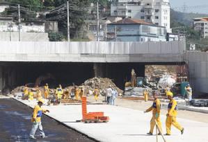 Obra do Mergulhão e do novo viaduto de Madureira Foto: O Globo / Paulo Nicolella