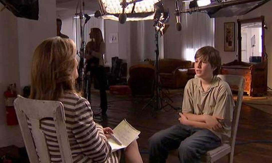 Sean conversa com a apresentadora da NBC Reprodução/NBC