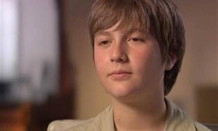 """Sean Goldman, hoje com 11 anos, durante a entrevista ao programa """"Dateline"""", da NBC Reprodução/NBC"""