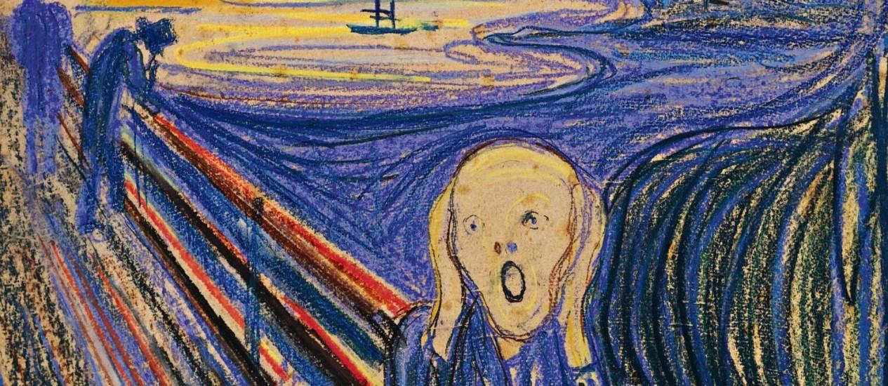 """""""O Grito"""", de Edvard Munch, irá a leilão na Sotheby's de Nova York na próxima quarta-feira, 2 de maio Foto: Divulgação/Sotheby's"""