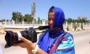 A jornalista e produtora Luana Dias, que há três anos vive em Moçambique: média de nove a dez horas de trabalho e papel de