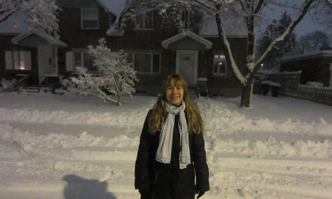 Helinett Pigatti Boamorte trabalha com administração no Canadá Foto: Álbum de família / Álbum de família