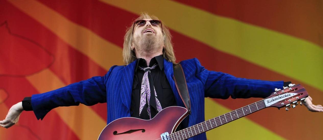 Tom Petty se apresenta no New Orleans Jazz & Heritage Festival, nos Estados Unidos Foto: AP