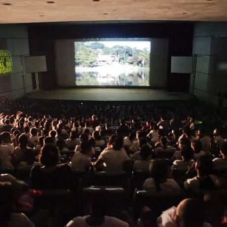 A mostra competitiva recebe cerca de 2,4 mil pessoas por noite Foto: Divulgação/Clara Gouvêa