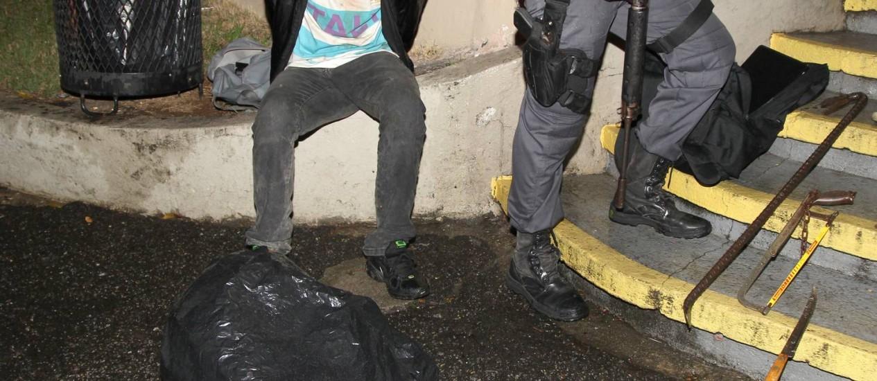 O assaltante Antônio Marcos Bonfim Santos foi preso Foto: Carlos Ivan