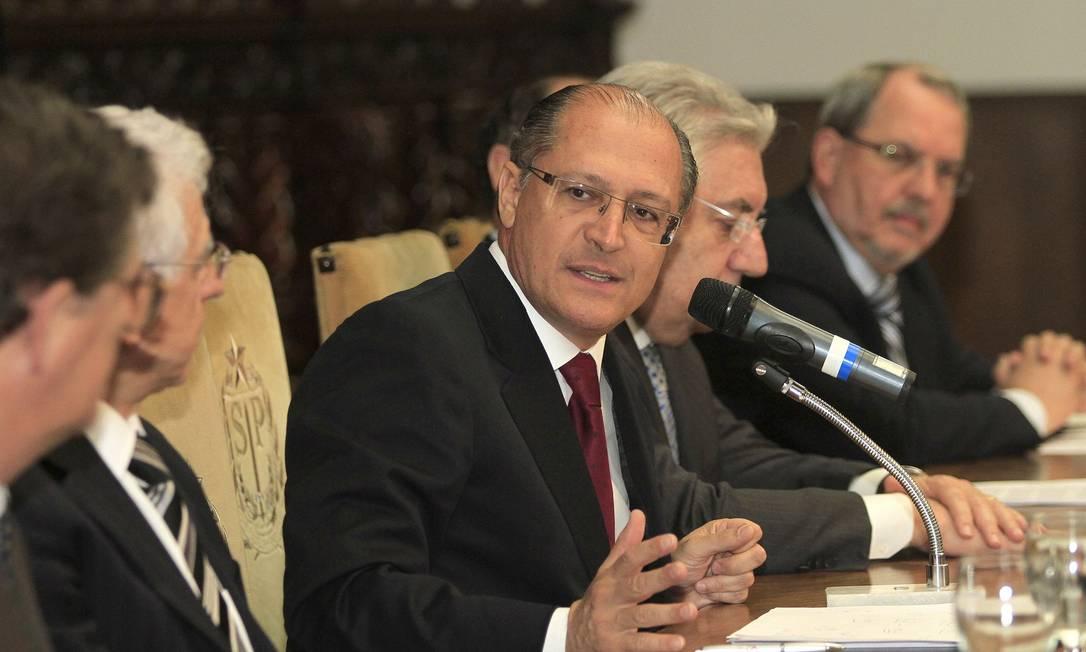'Nós tínhamos alguns contratos que já se encerraram, nem são do meu mandato', disse Geraldo Alckmin Foto: Cris Castello Branco / Divulgação