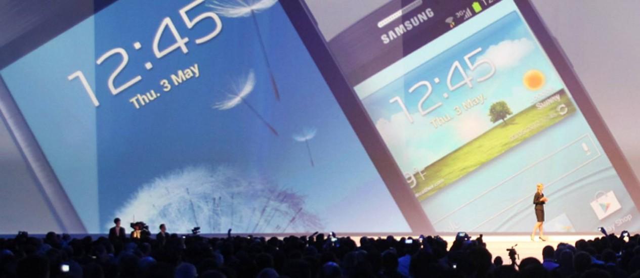 Samsung apresenta novo Galaxy S III Foto: AFP