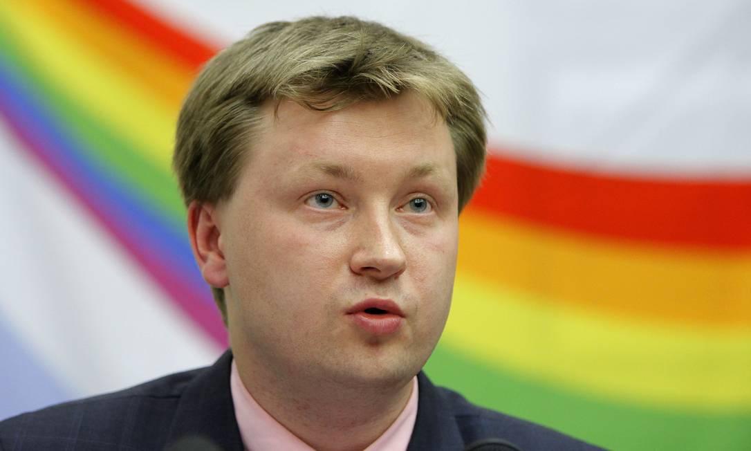 "O ativista gay Nikolai Alexeyev condenado por ""propaganda gay"" Foto: Alexander Zemlianichenko/AP"