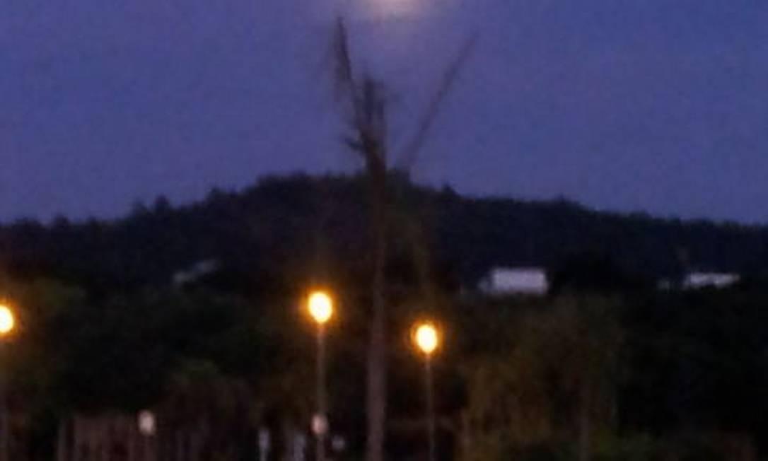 Vista de Florianópolis Foto: Foto do leitor Roger Bittencourt, pelo Twitter / Eu-Repórter