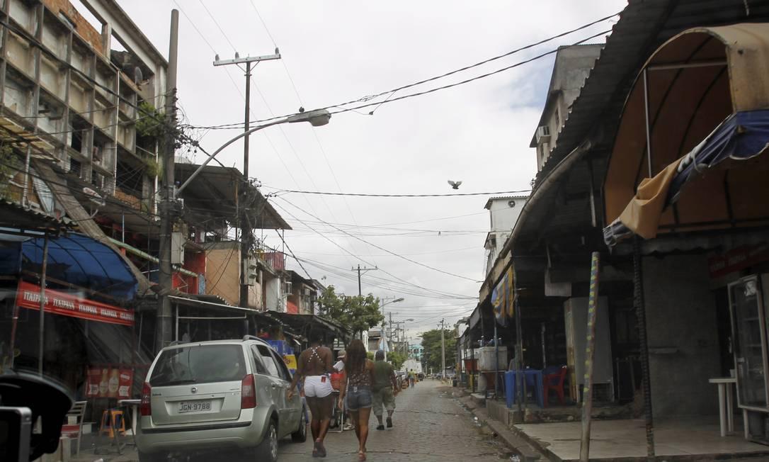 Vila Mimosa, na Praça da Bandeira, que ficará próxima ao canteiro de obras do metrô Foto: Marcelo Piu / O Globo