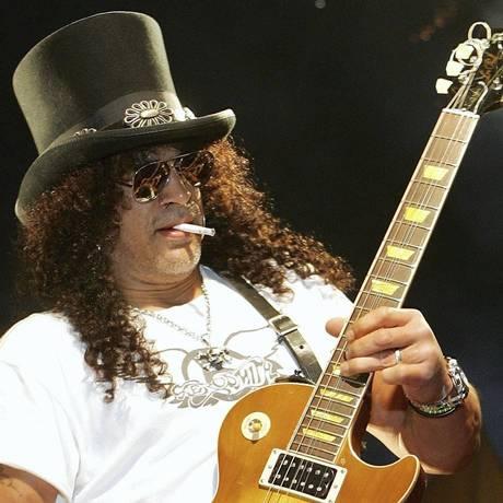 Slash, ex-guitarrista do Guns N'Roses Foto: Arquivo