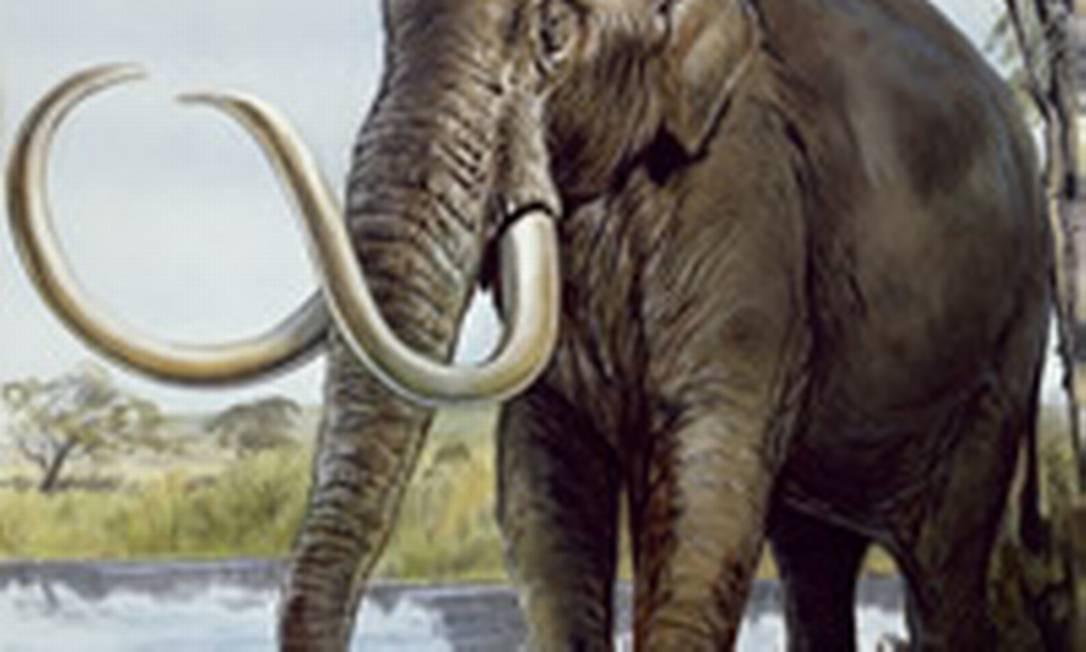 Ilustração mostra como seria o mamte anão da Ilha de Creta: nanismo é resposta evolucionária comum de mamíferos a ambientes insulares Foto: Reprodução da internet/Museu de História Natural de Londres