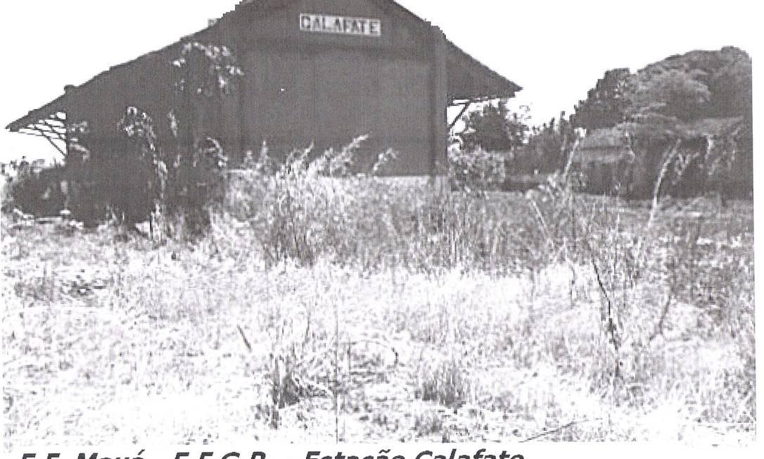 Estação Calafate, na antiga Estrada de Ferro Mauá, que não existe mais Foto: Coleção de Helio Suêvo