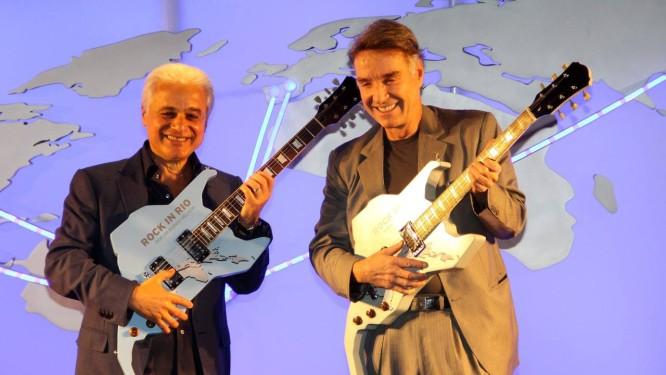 Roberto Medina e Eike Batista anunciam parceria para Rock in Rio Foto: Agência O GLOBO / Paulo Nicolella