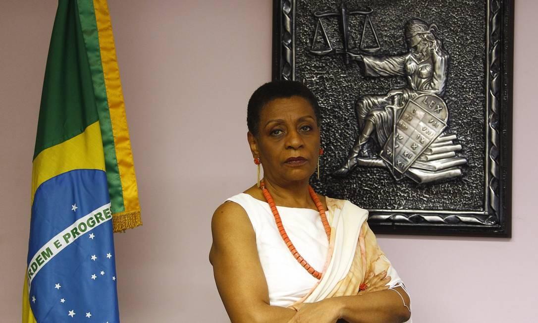 Na foto, a primeira juíza negra do Rio de Janeiro, Ivone Caetano Foto: O Globo / Pablo Jacob