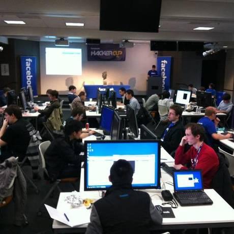 Facebook Hacker Cup, a final do Hackathon 2011 em Menlo Park, na Califórnia Foto: Reprodução