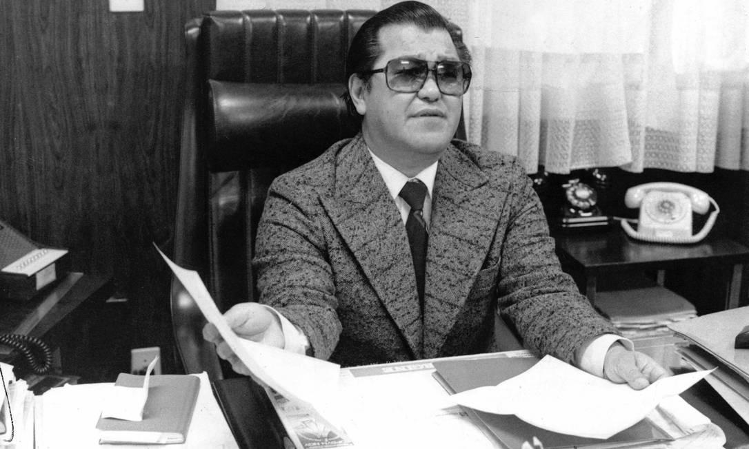 O médico legista Harry Shibata durante entrevista Foto: Arquivo / Agência O Globo