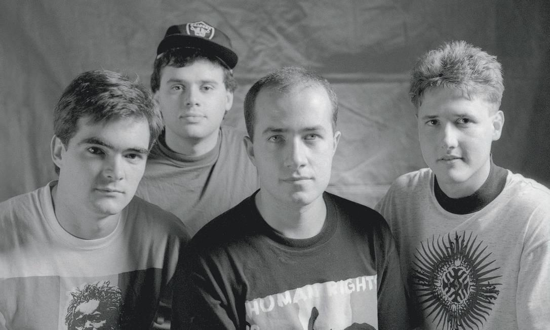 A banda mineira Skank em 1991 Foto: Divulgação/Weber de Pádua
