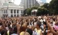 Evangélicos e católicos reunidos na Marcha para Jesus