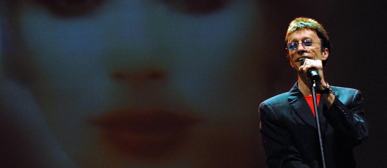 Robin Gibb, dos Bee Gees, será enterrado na próxima semana Foto: AP