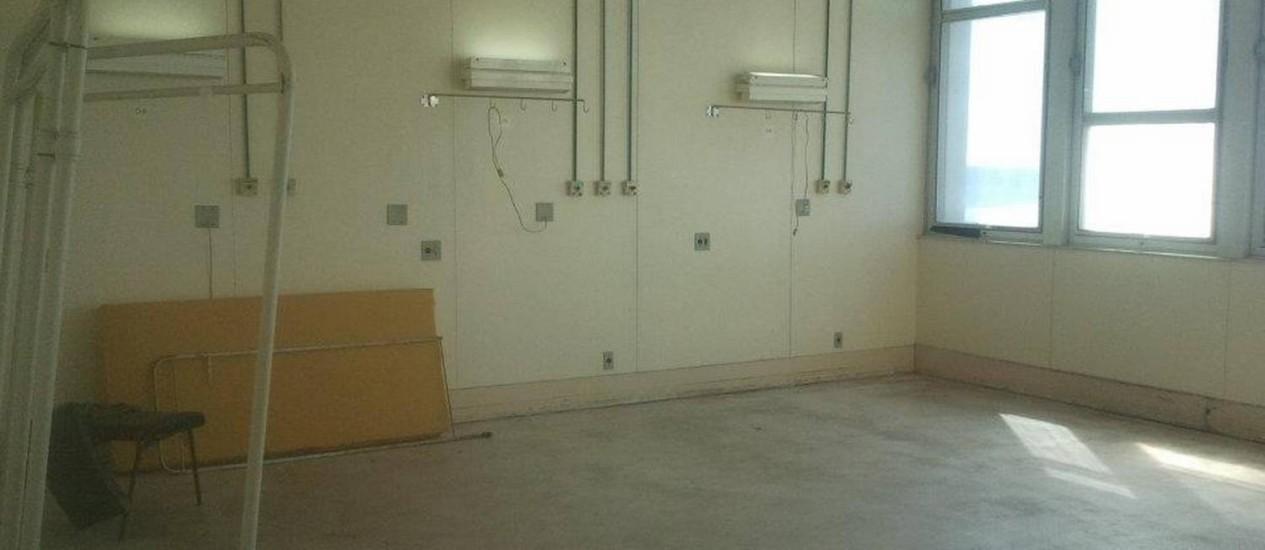 Sala abandonada no Hospital Universitário Clementino Fraga Filho, da UFRJ Foto: Divulgação