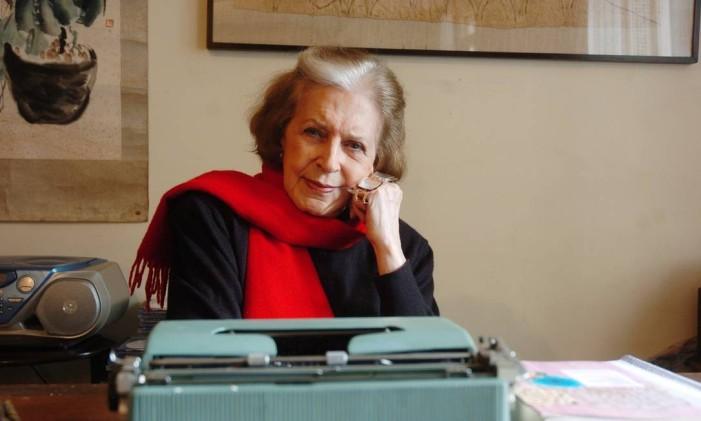 A escritora Lygia Fagundes Telles Foto: Arquivo O Globo